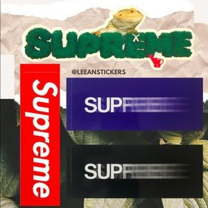 Supreme Motion Logo Sticker Pack